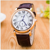Image of Men's Geneva Rome Dial Quality Quartz Watch Leather Band