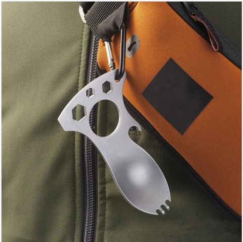 Stainless Steel Tactical Outdoor Spork Multi-tool