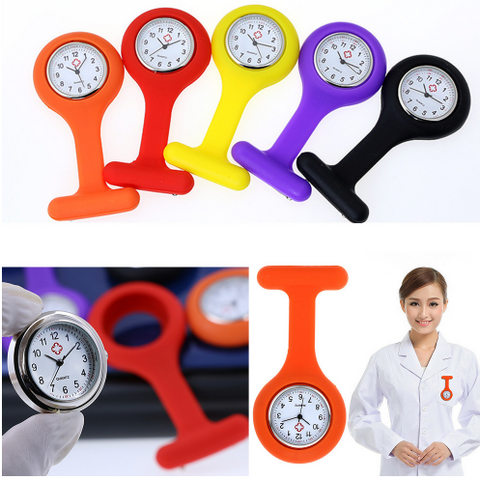 Nurse's Silicone Fob Pocket Watch Quartz Movement