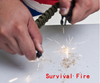 Image of Survival Bracelet Paracord Flint Fire Starter Whistle