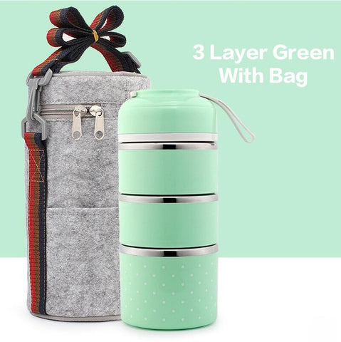 1-2-3 Layer Stainless Steel Leak-Proof Thermal Lunch Boxes