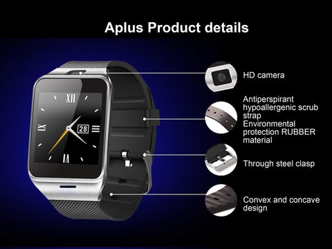 Bluetooth Smart Watch with Remote Camera, Recording AVI Format