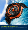 Image of S Shock Sports Watch Men's Digital Shock Resistant Quartz Alarm Outdoor Military LED
