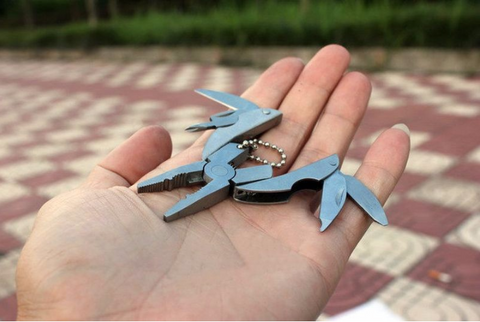 Multi-Function Foldaway Keychain Pliers Knife Screwdriver Portable Survival Tool
