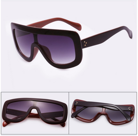 new celebrity womens vintage big frame sunglasses with acetate shades gradient uv400