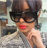 Image of NEW Celebrity Women's Vintage Big Frame Sunglasses With Acetate Shades Gradient UV400