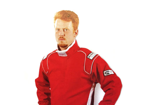 Fire Suit Jacket - 2 Layer SFI-5 Size (1) Small Red - Ultra-Shield