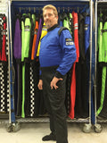 Fire Suit 1-Piece 2 Layer SFI-5 Size 2XL Blue & Black Peak Racing Equipment