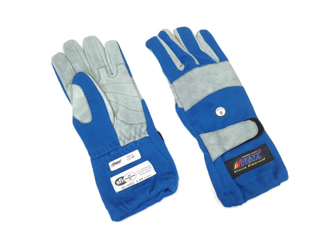 Gloves 2 Layer SFI 3.3/5 Size (1) Small Blue Racing Gloves PEAK 700 Series