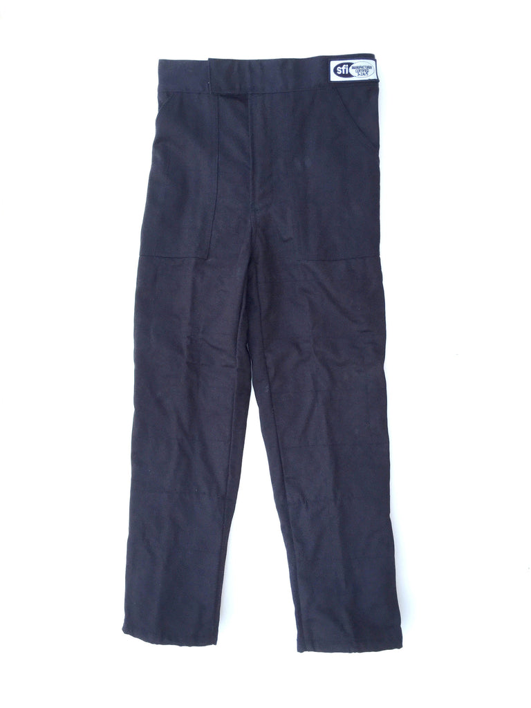 Fire Suit Pants - 2 Layer Size (7) 4XL SFI-5 Box Quilted Black ...