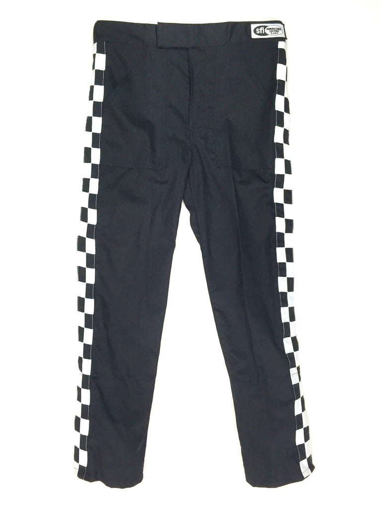 Fire Suit Pants - 1 Layer Size (6) 3XL SFI-1 Black Peak Racing Qualifier
