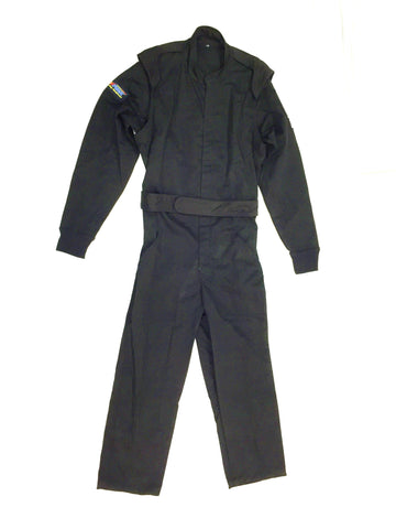 Fire Suit 1-Piece 2 Layer SFI-5 Size Medium Black Peak Racing Equipment
