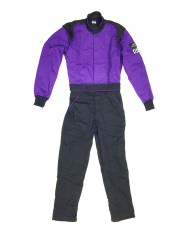 Fire Suit 1-Piece 1 Layer SFI-1 Size (6) 3X-Large Purple & Black Peak Racing Equipment