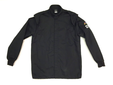 Fire Suit Jacket - 2 Layer SFI-5 Size (1) Small Black Peak Racing Equipment