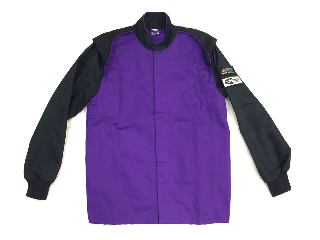 Fire Suit Jacket - 2 Layer SFI-5 Size (1) Small Purple & Black Peak Racing Equipment