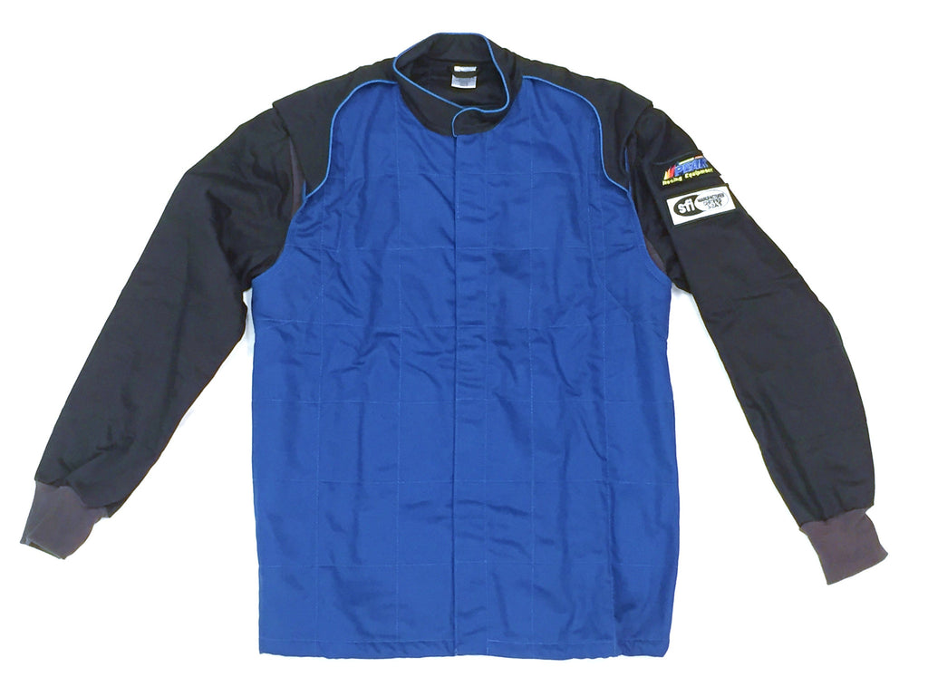 Fire Suit Jacket - 2 Layer SFI-5 Size (1) Small Blue & Black Peak Racing Equipment