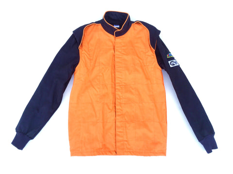 Fire Suit Jacket - 2 Layer SFI-5 Size (0) X-Small Orange & Black Peak Racing Equipment