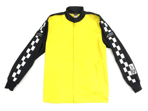 Fire Suit - 1 Layer Jacket Only Size (1) Small SFI-1 Yellow & Black Peak Racing Qualifier