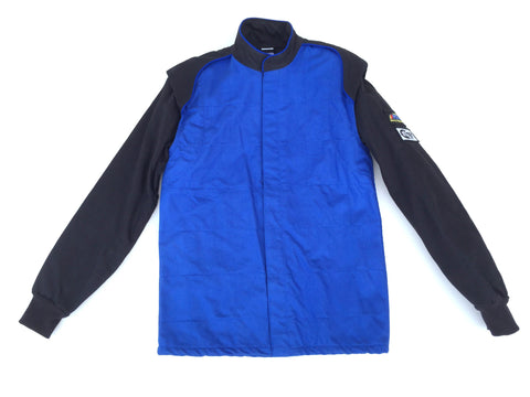 Fire Suit - 1 Layer Jacket Only Size (1) Small SFI-1 Blue & Black Peak Racing Equipment