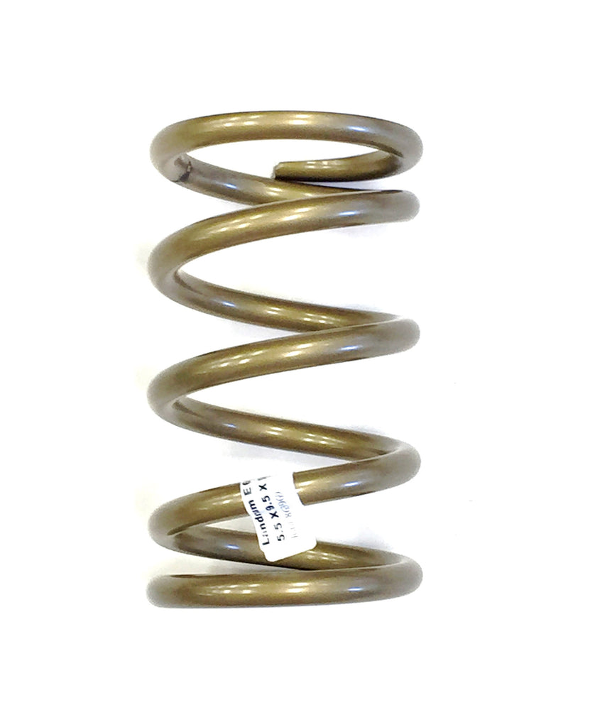 "Coil Spring 5.5"" X 9.5"" X 650 LB Gold Front Racing Coil Spring LANDRUM E650"