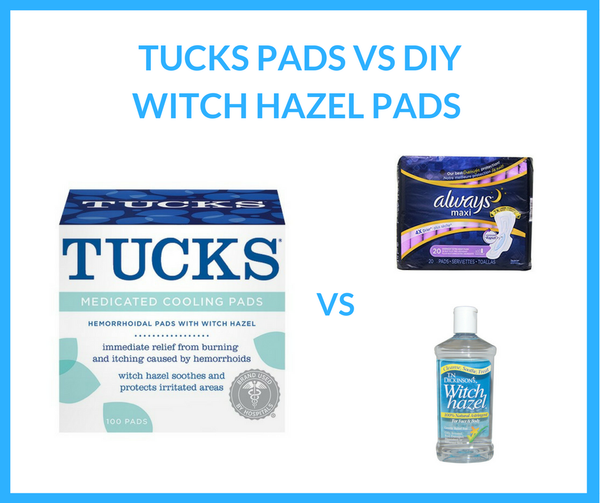 Tucks Pads vs Witch Hazel Pads Reviews for Hemorrhoids - Is the DIY Hemorrhoid Pad Better?