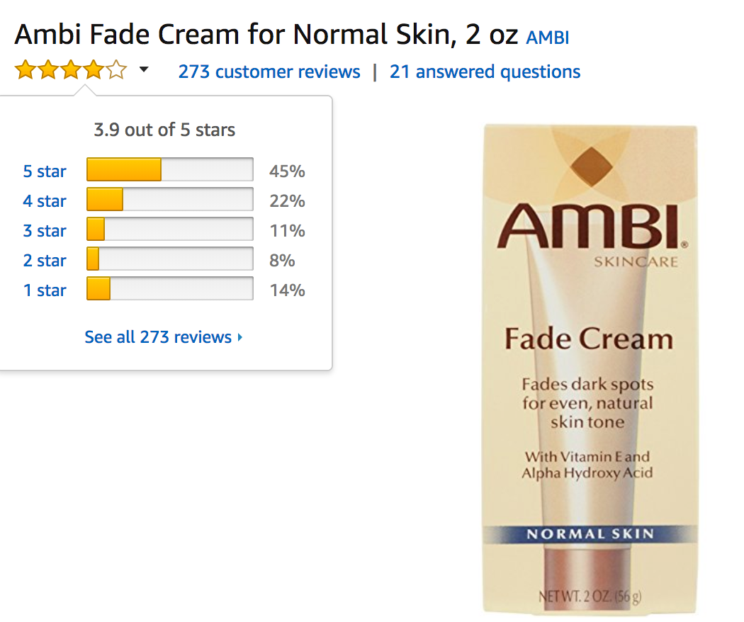 Ambi Fade Cream Reviews