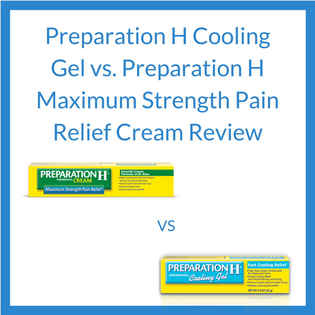 cooling gel vs max strength pain cream