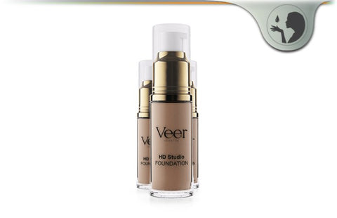 Light Medium Veer Cosmetics Liquid Mineral Foundation Makeup by Cork