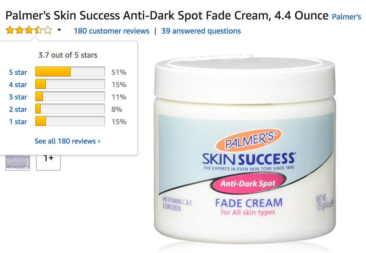 Palmers Fade Cream Reviews