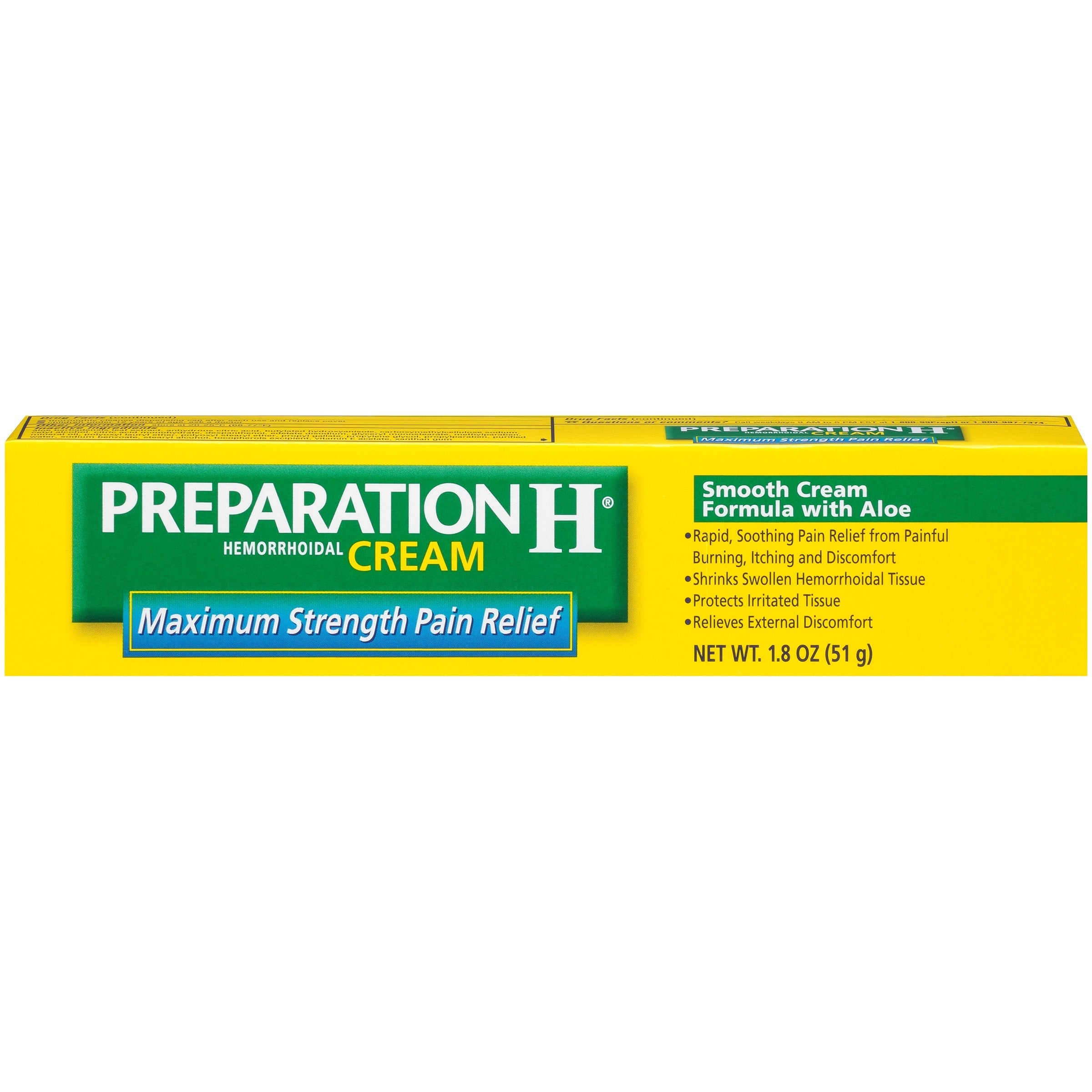 preparation h maximum strength with aloe vera
