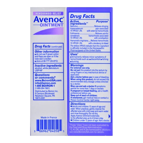 boiron avenoc ointment ingredients