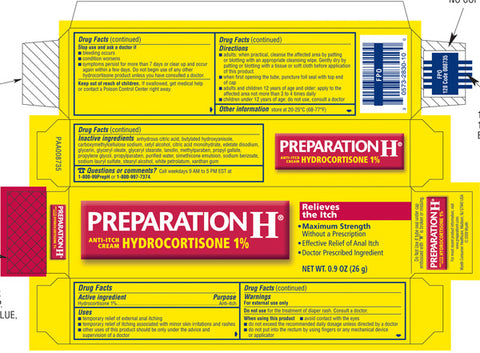 preparation h hydrocortisone cream