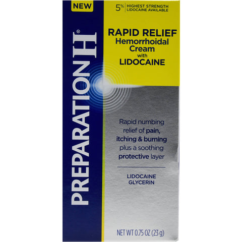 preparation h pain relief cream