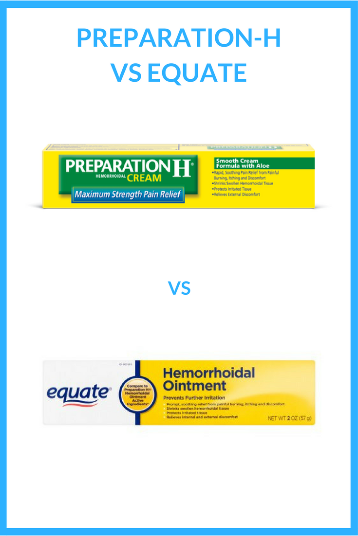 preparation h vs equate