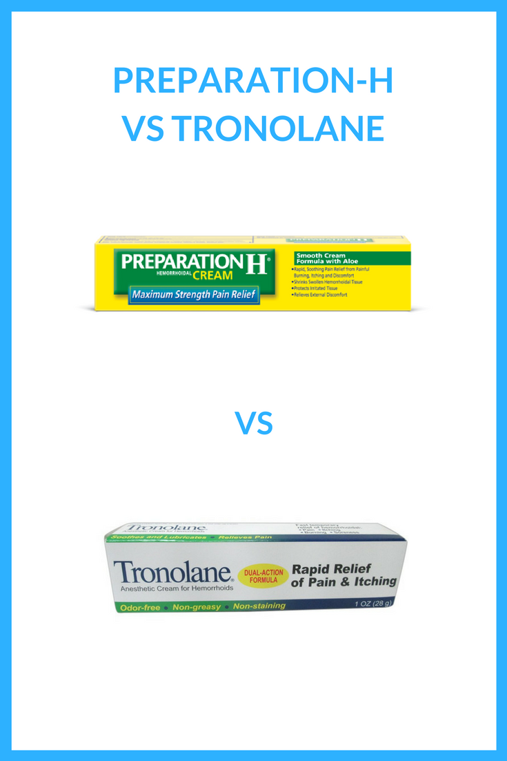 preparation h vs tronolane