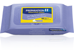 preparation h wipes woman