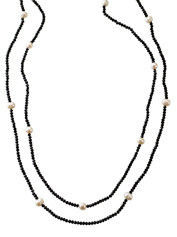 Swarovski crystal and white pearl necklace set