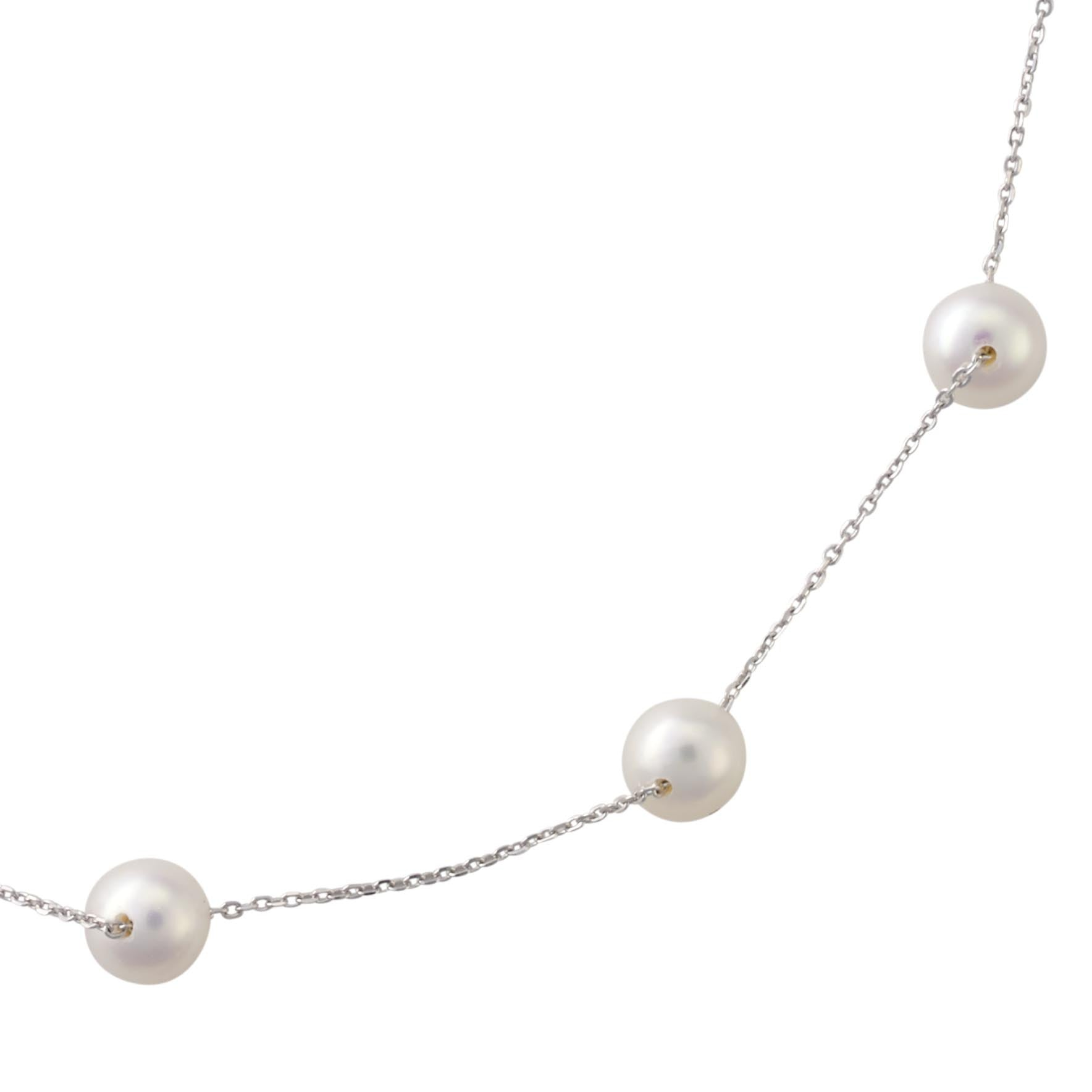 necklace silver pearl jewellery sterling freshwater