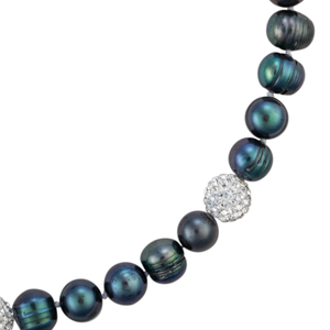 Pearl strand with crystal accents