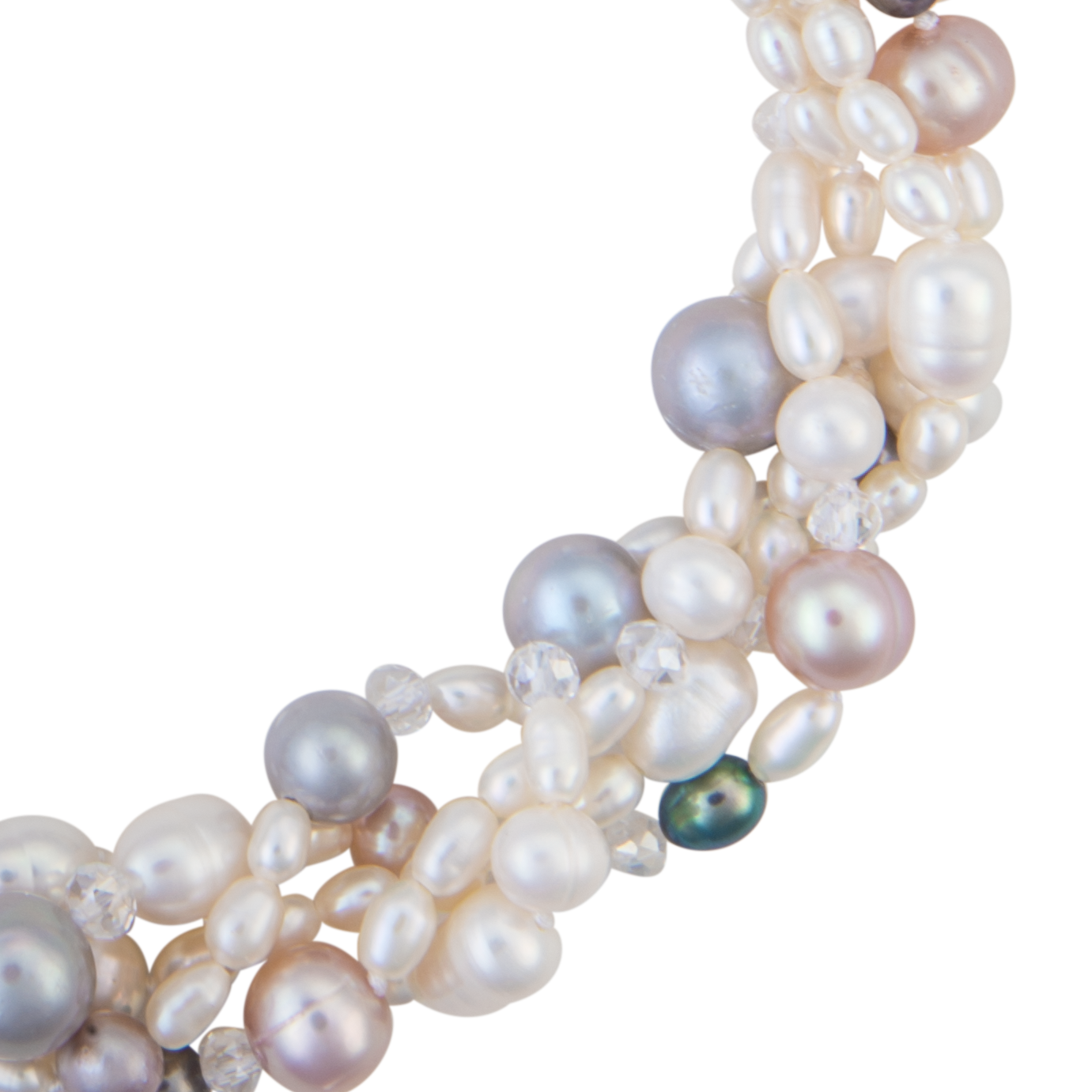 14f6e778b Five-strand multi-colored pearl necklace - Dog House Pearls