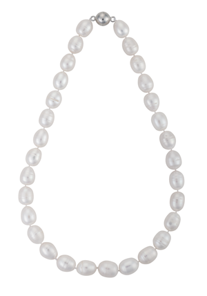 Single-strand baroque pearl necklace
