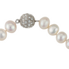 AAA freshwater pearl strand with crystal clasp