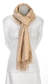 Camel cashmere and pearl pashmina
