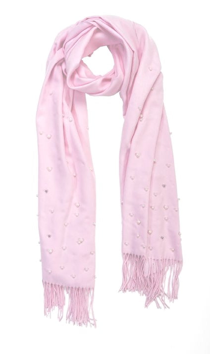 Light pink cashmere and pearl pashmina