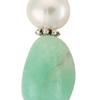 Amazonite and pearl drop earrings