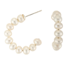 Stacked pearl hoops