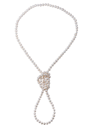 Extra-long perfect pearl necklace