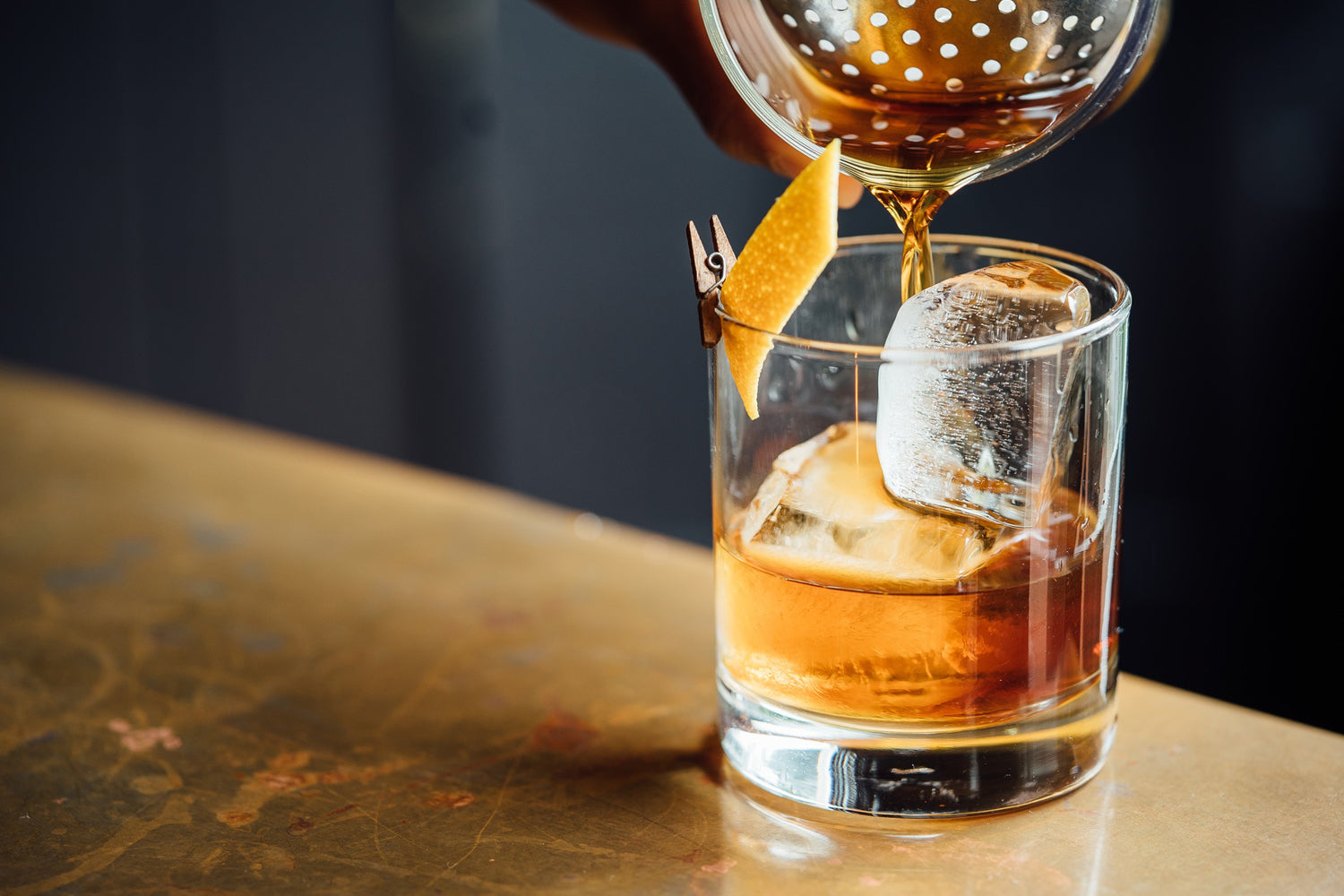 Whisky being poured into a glass
