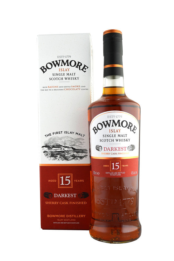 Bowmore 15 Year Old Darkest Sherry Cask | 43% 700ml  Whisky