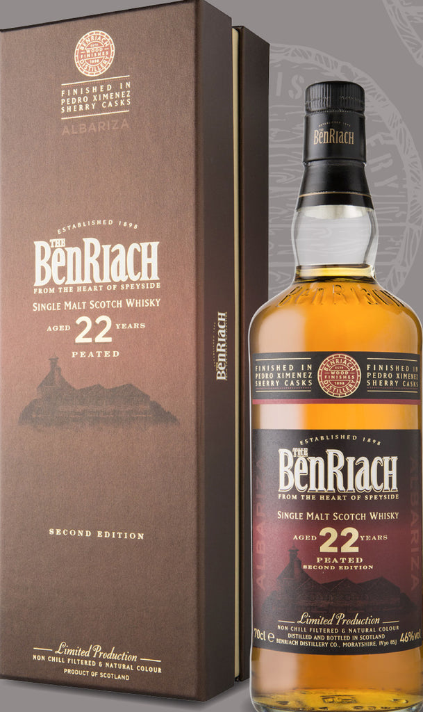 BenRiach Peated Albariza (Pedro Ximenez Sherry) 22 Year Old 46% 70cl